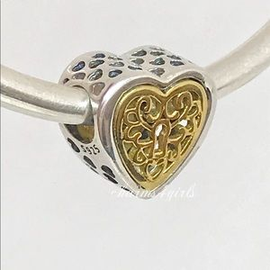 Authentic Pandora locked love heart charm